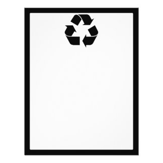 Recycling Symbol - Black Flyer