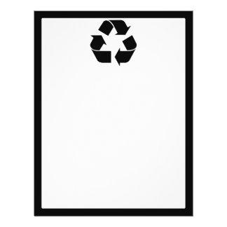 Recycling Symbol - Black Flyer