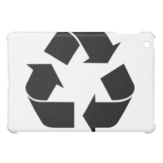 Recycling Symbol - Black iPad Mini Cover