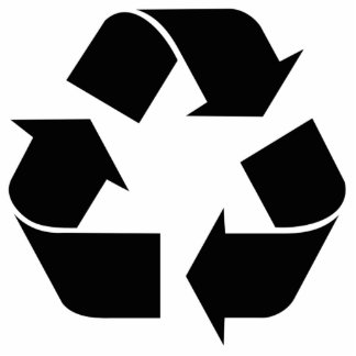 Recycling Symbol - Black Cut Out