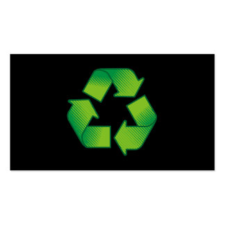 Recycling symbol business card