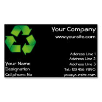 Recycling symbol business card magnet