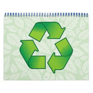 Recycling symbol calendar