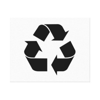 Recycling Symbol Gallery Wrapped Canvas