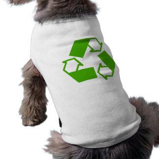 Recycling Symbol Dog T Shirt