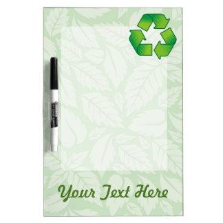 Recycling symbol Dry-Erase board