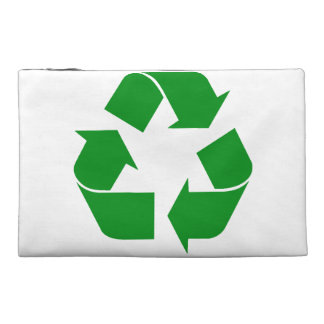 Recycling Symbol - Green Travel Accessories Bags