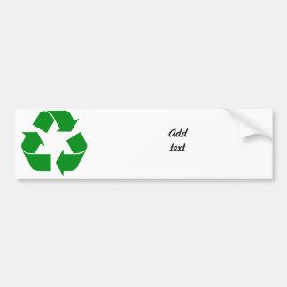 Recycling Symbol - Green Bumper Sticker