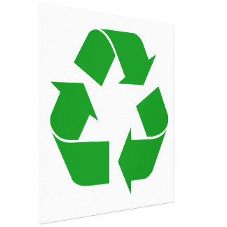 Recycling Symbol - Green Canvas Print