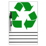 Recycling Symbol - Green Dry-Erase Boards