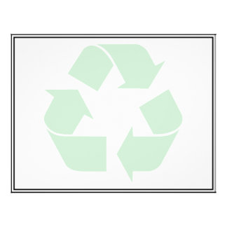 "Recycling Symbol - Green 8.5"" X 11"" Flyer"