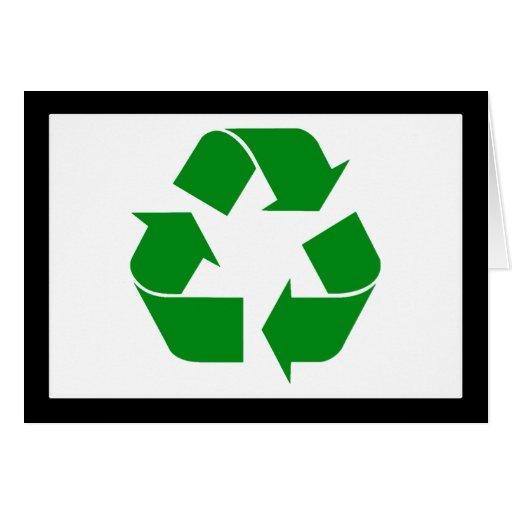 Recycling Symbol - Green Greeting Card
