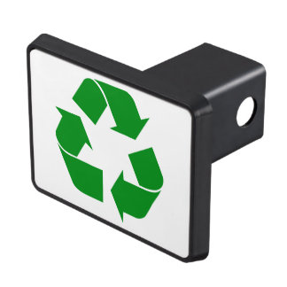 Recycling Symbol - Green Hitch Cover