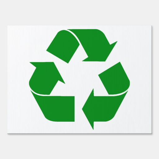 Recycling Symbol - Green Lawn Signs