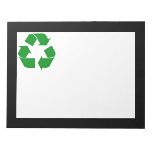 Recycling Symbol - Green Note Pads