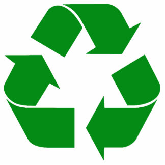 Recycling Symbol - Green Cut Out