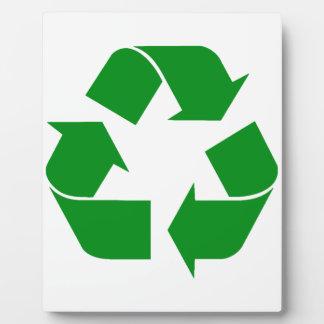 Recycling Symbol - Green Display Plaque