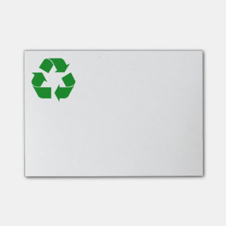 Recycling Symbol - Green Post-it Notes