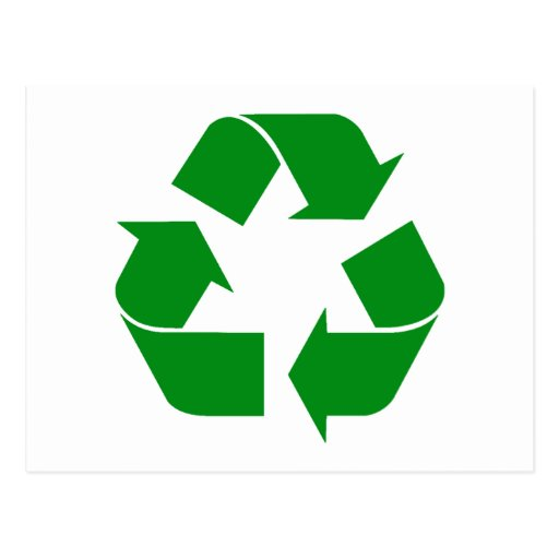Recycling Symbol - Green Postcards