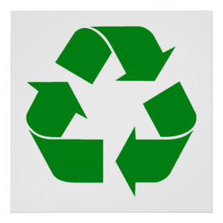 Recycling Symbol - Green Poster