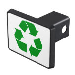 Recycling Symbol - Green Tow Hitch Cover