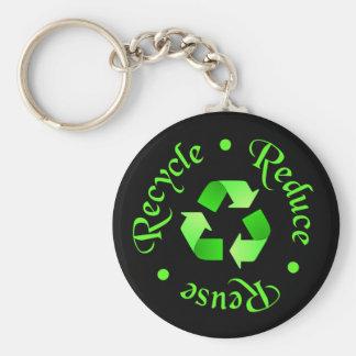 Recycling Symbol Keychain