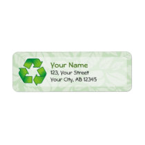 Recycling symbol label