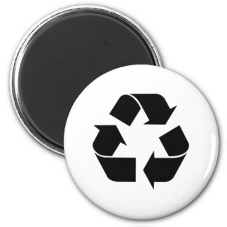 Recycling Symbol 2 Inch Round Magnet