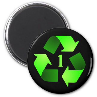 Recycling Symbol Magnet - Green #1
