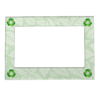 Recycling symbol magnetic picture frame