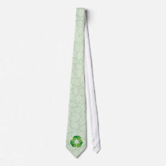 Recycling symbol neck tie