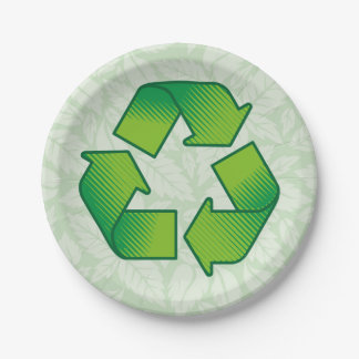 Recycling Symbol Paper Plate