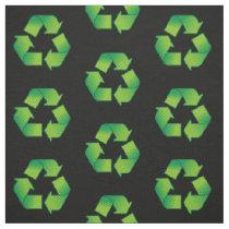 Recycling Symbol Pattern Fabric