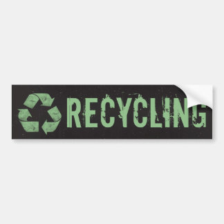 Recycling Symbol Recycle Bin Label Bumper Sticker