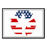 Recycling Symbol - Red White & Blue Large Business Cards (Pack Of 100)