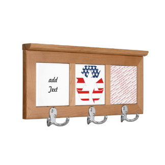 Recycling Symbol - Red White & Blue Coat Racks