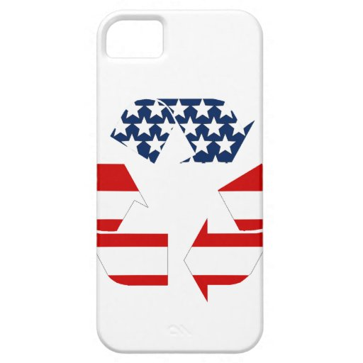 Recycling Symbol - Red White & Blue HTC Vivid Case