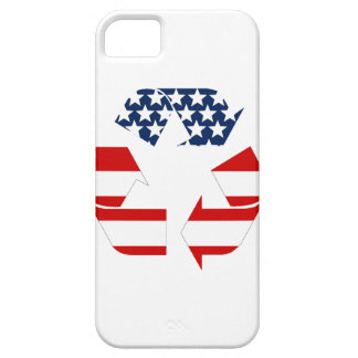 Recycling Symbol - Red White & Blue iPhone 5 Case