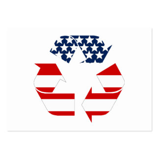 Recycling Symbol - Red White & Blue Large Business Card