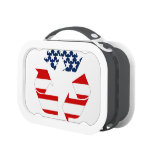 Recycling Symbol - Red White & Blue Lunch Box