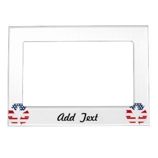Recycling Symbol - Red White & Blue Magnetic Frames