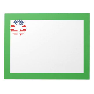 Recycling Symbol - Red White & Blue Note Pads