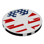 Recycling Symbol - Red White & Blue Poker Chips
