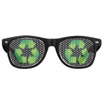 Recycling symbol retro sunglasses