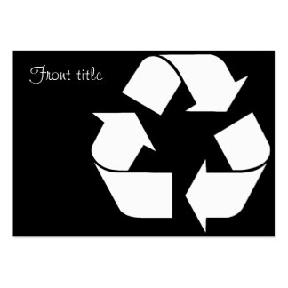 Recycling Symbol - White (For Black Backgrounds) Large Business Card