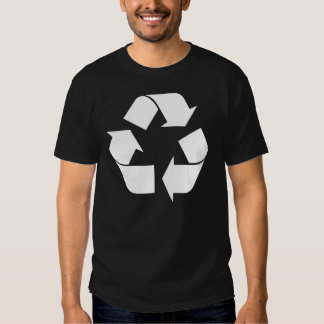 Recycling Symbol - White (For Black Backgrounds) T-Shirt