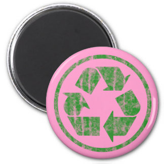 Recycling to Save the Planet Earth, Symbol 2 Inch Round Magnet