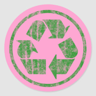 Recycling to Save the Planet Earth, Symbol Classic Round Sticker