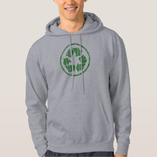 Recycling to Save the Planet Earth, Symbol Emblem Hoodie