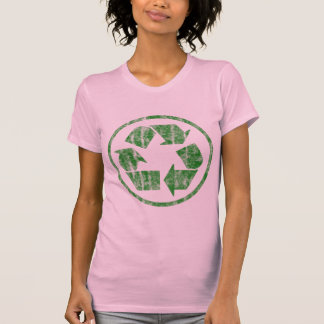 Recycling to Save the Planet Earth Symbol Emblem T-shirt